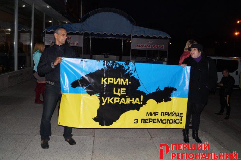 «Вовчиці – не вівці!»: у Херсоні Олега Винника зустріли з протестом