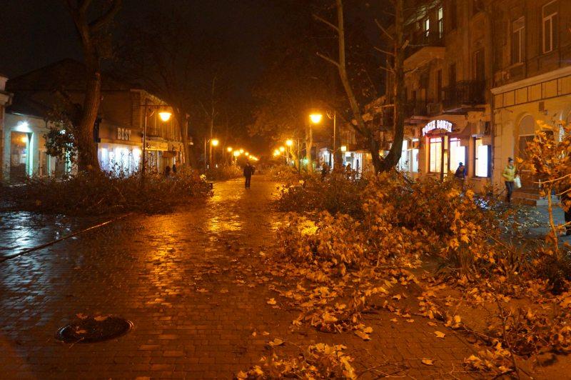 Центральна вулиця Херсона завалена гілками