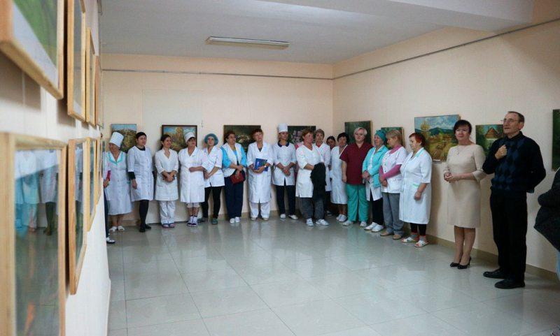 У Херсонському онкодиспансері відкрилася персональна виставка Володимира Гончаренко
