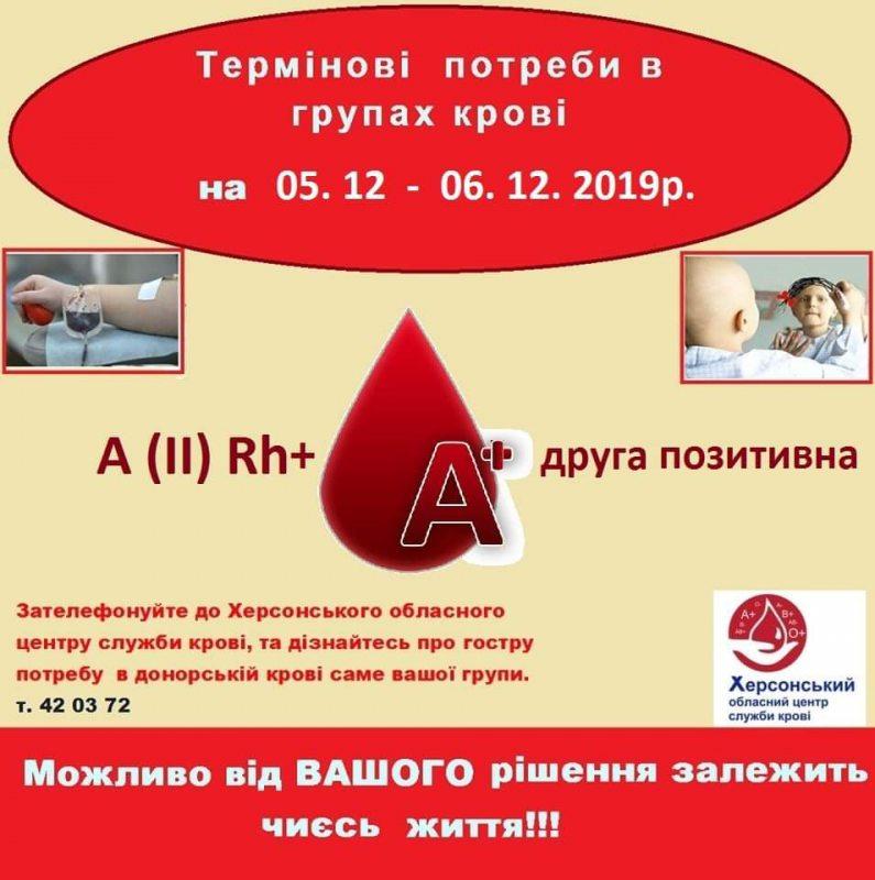 У Херсоні шукають донорів крові