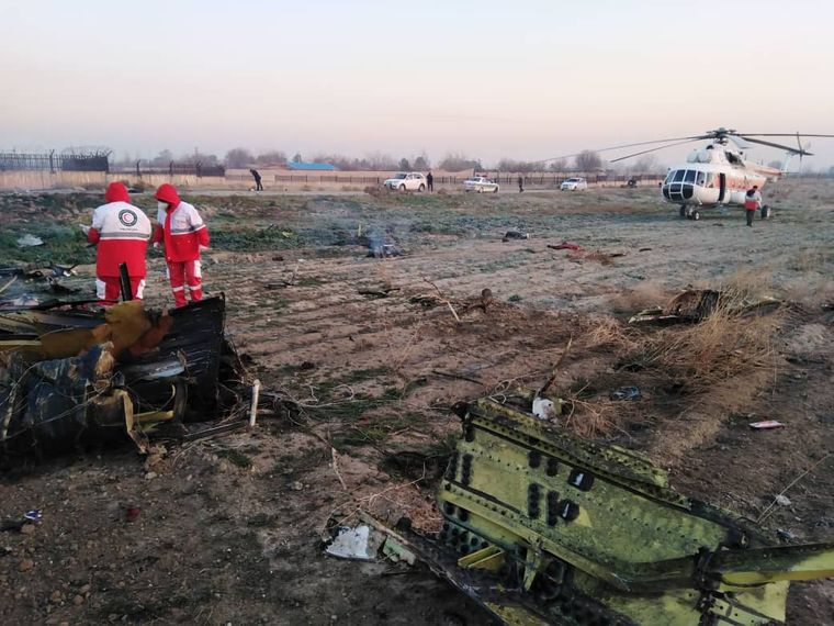 В Ірані розбився український Боїнг-737 зі 180 людьми на борту
