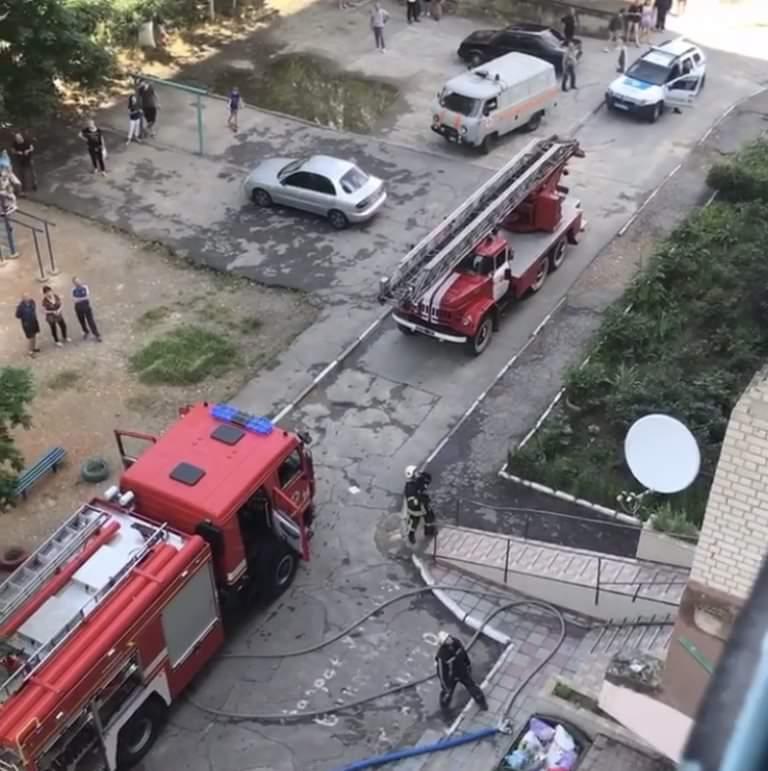 У Херсоні загасили пожежу в п'ятнадцятиповерховому будинку