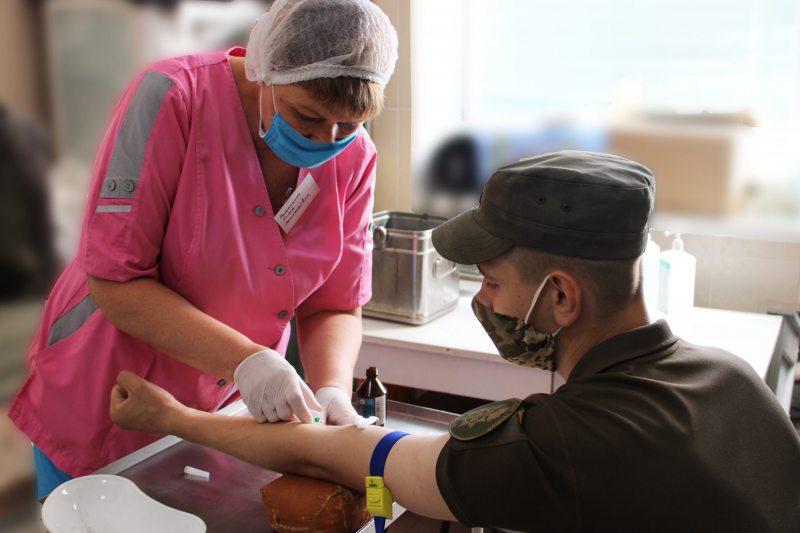 Херсонських гвардійців перевірять на антитіла до COVID-19