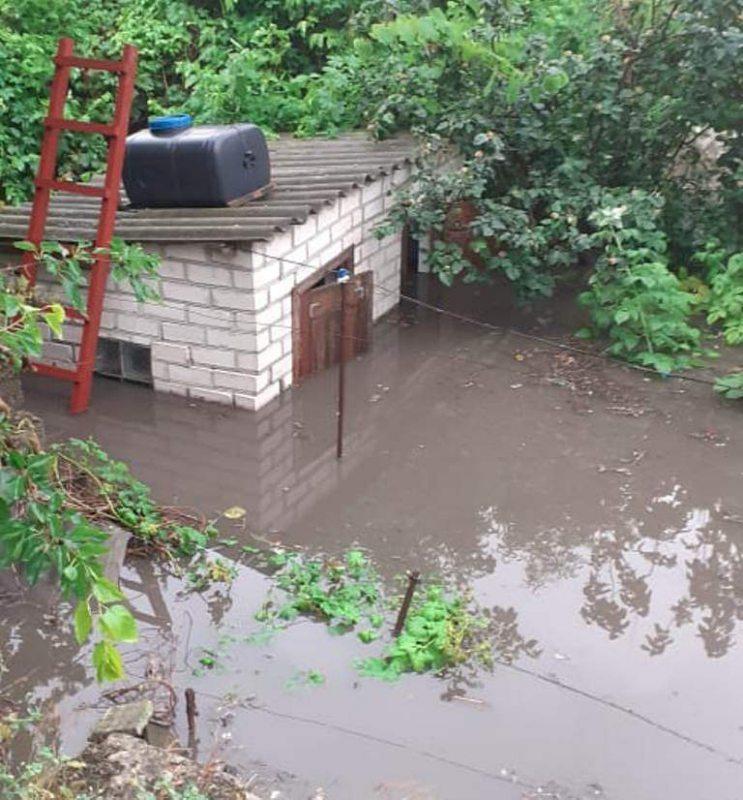 Повалені дерева та затоплені будинки: наслідки негоди у Херсоні