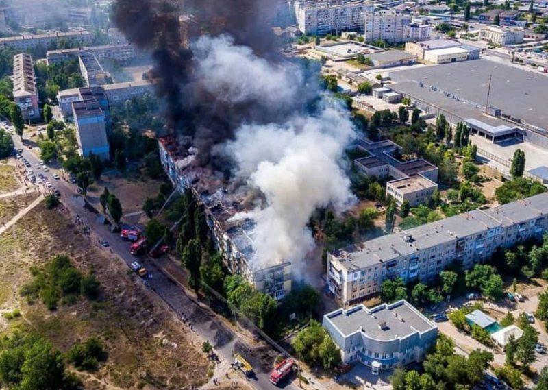 Міський голова Нової Каховки розповів про заходи з ліквідації масштабної пожежі