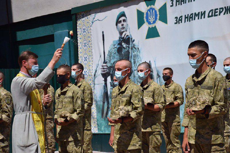 В пограничные войска Херсонщины поступили на срочную службу новые бойцы