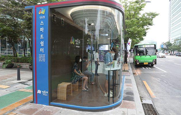 В Сеуле появилась первая автобусная остановка, которая защищает от вирусов