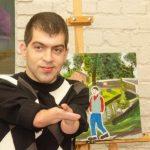 Художник з інвалідністю Андрій Лещинський проводить благодійний аукціон