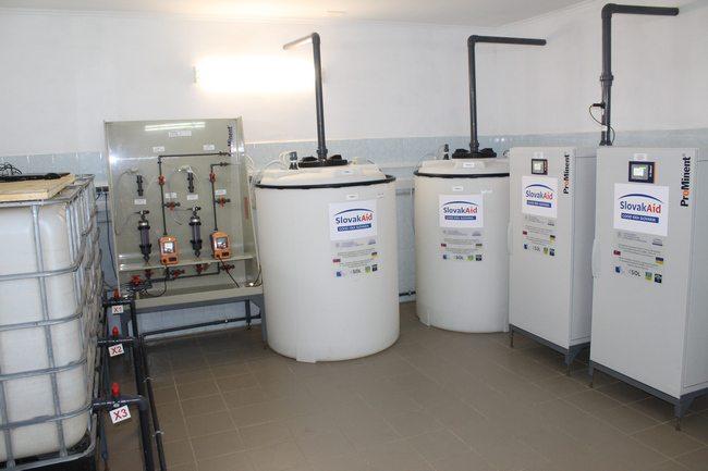 У Херсоні запустили «міні-завод» з виробництва гіпохлориту натрію