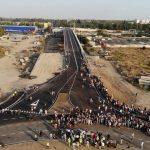 Стала відома тимчасова схема організації дорожнього руху на шляхопроводі «ХБК-Таврійській»